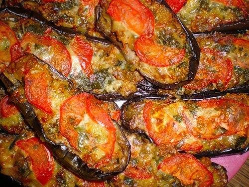 Баклажаны с мясом запеченные в духовке рецепт с пошагово