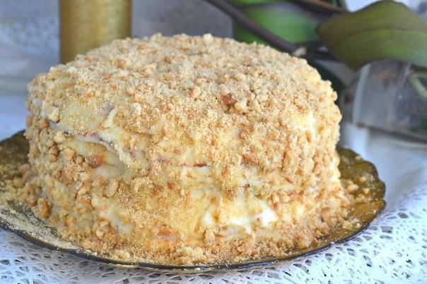 Торт наполеон рецепт на сковороде с фото пошагово с заварным кремом