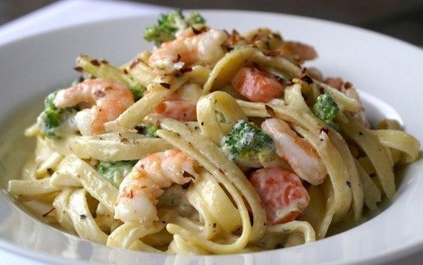 как приготовить спагетти с морепродуктами в сливочном соусе