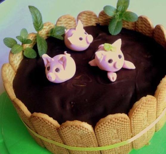 торт три поросенка