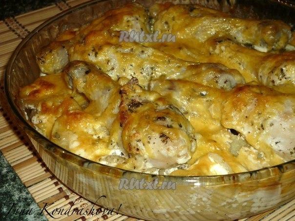 Картошка с курицей со сметаной в духовке рецепт пошагово