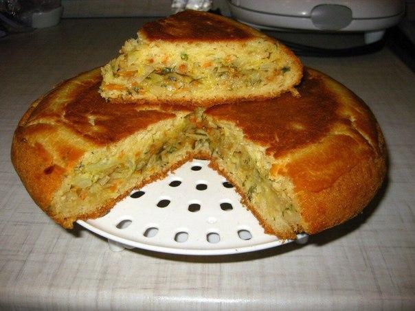 пирог в мультиварке.с капустой