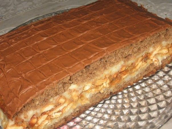 Сникерс торт в домашних условиях 40