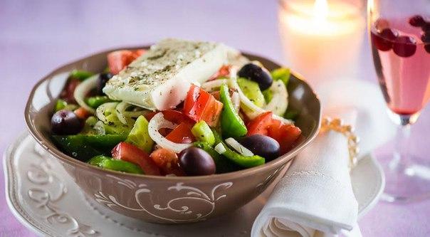Салат с сыром фетаксаы с фото простые и вкусные