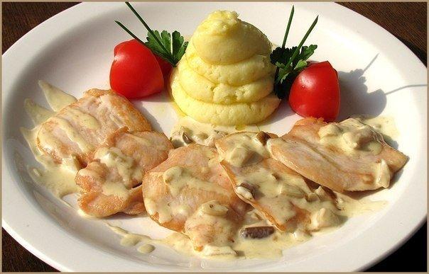 Курица в чесночном соусе рецепт