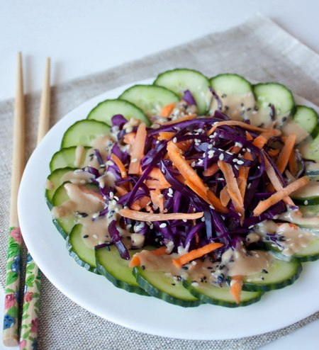 Салат из красной капусты с огурцом рецепты