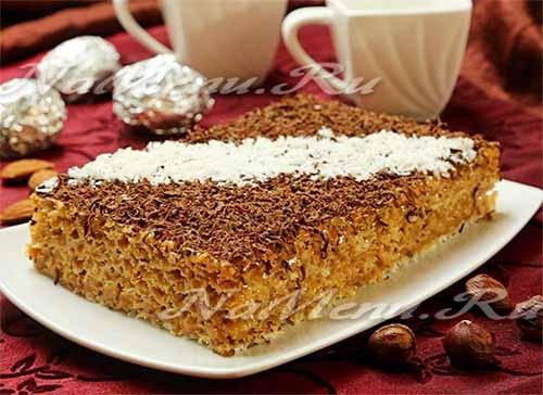 Бисквитный торт со сгущёнкой - 9 лучших рецептов с фото пошагово | 364x500