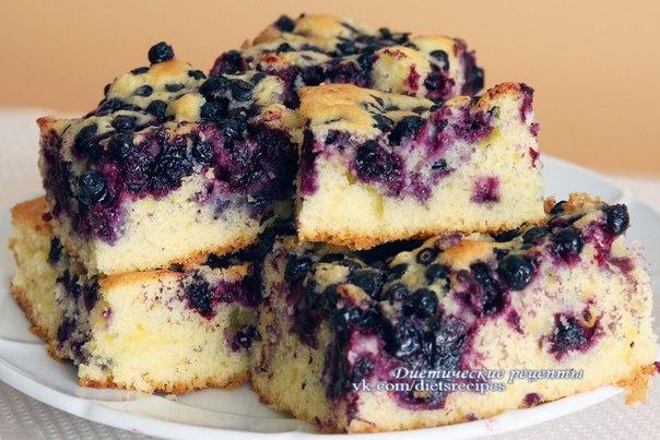 Черничный кекс рецепт с фото