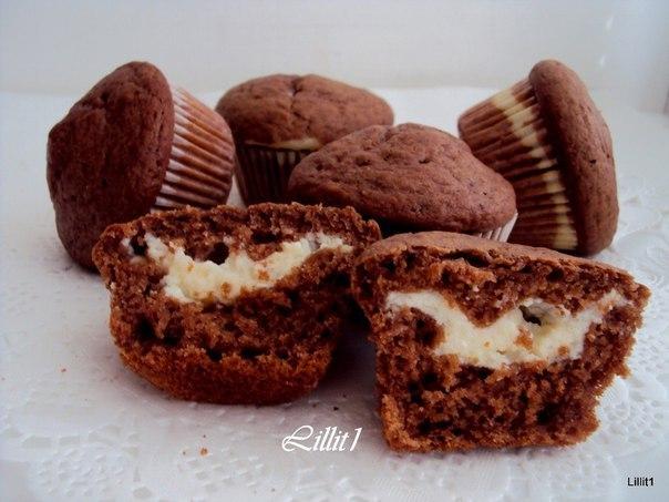 маффины рецепт на кефире с шоколадным кремом