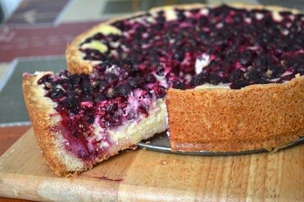 Пирог с малиновым вареньем простой рецепт
