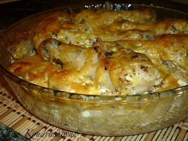Картошка с куриными ногами в духовке рецепт