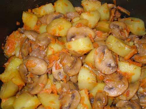 Рецепты картофель с грибами и мясом в горшочке