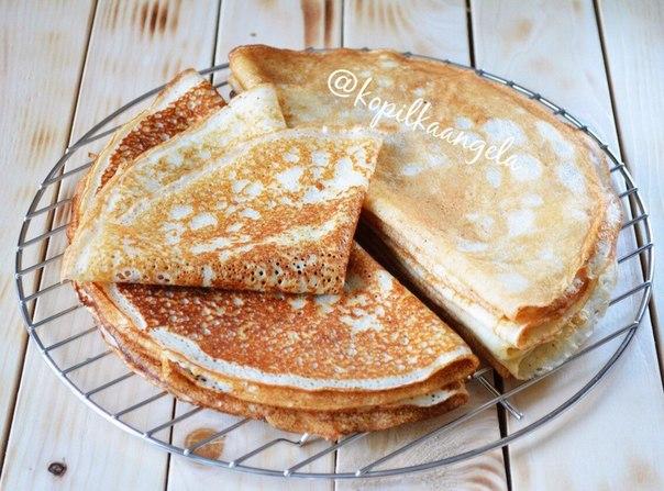 Тесто на большое количество блинов
