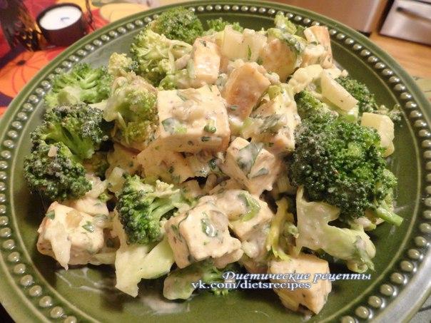как приготовить салат из брокколи и цветной капусты