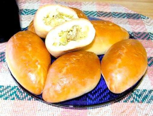 начинка из капусты для пирожков из дрожжевого теста с яйцом