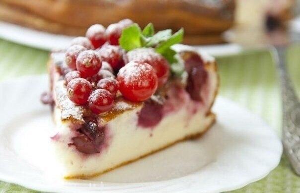 Десерт творожный с вишней рецепты