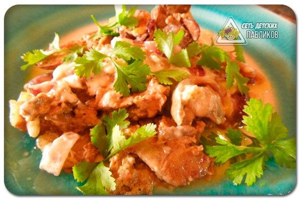 Печень куриная приготовить со сметаной