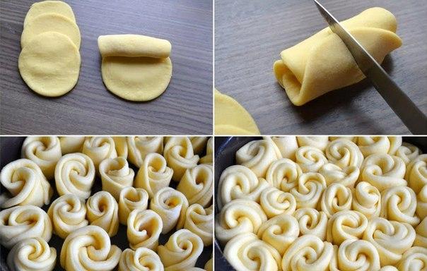 Как сделать тесто булочки розочки из теста