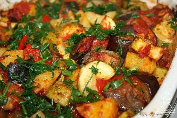 Баклажаны кабачки рагу рецепты пошагово