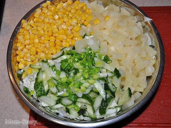 Салат с куриной грудки и пекинской капустой рецепт с