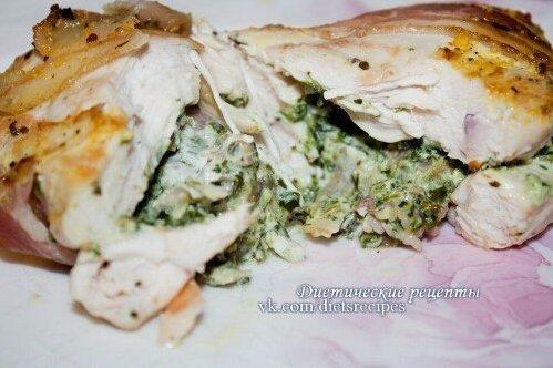 Филе куриное фаршированное грибами рецепт