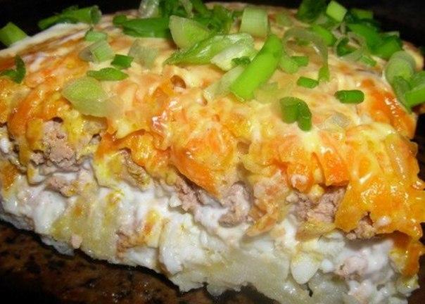 Салат с печенью свиной и рисом рецепт с