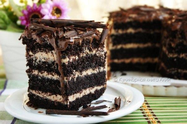 Торт влажный шоколадный рецепт