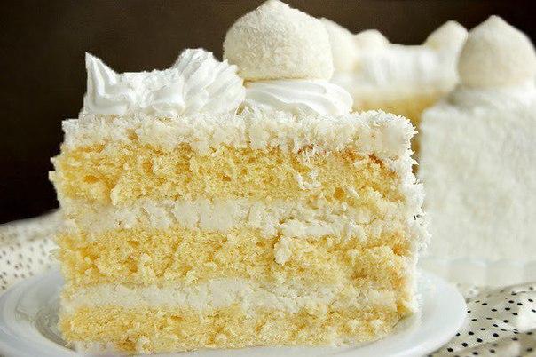 Рецепт торт с кокосовой стружкой