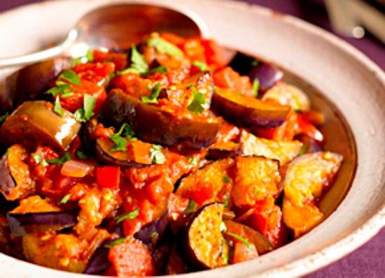 Тушеные овощи с баклажанами и кабачками рецепт