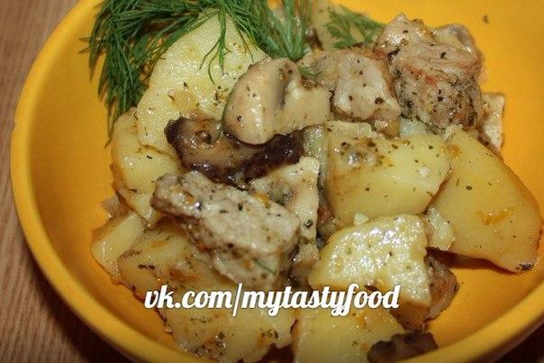 Картофель тушеный с говядиной грибами — pic 10