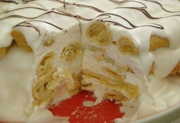 Торт дамские пальчики эклер