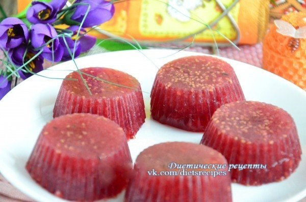 Мармелад из желатина без сахара