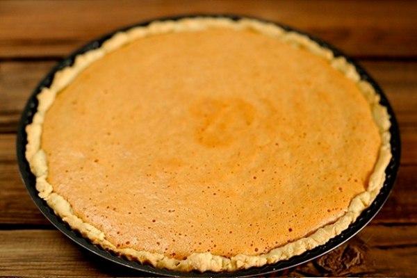 Открытый пирог с яблочным пюре рецепт