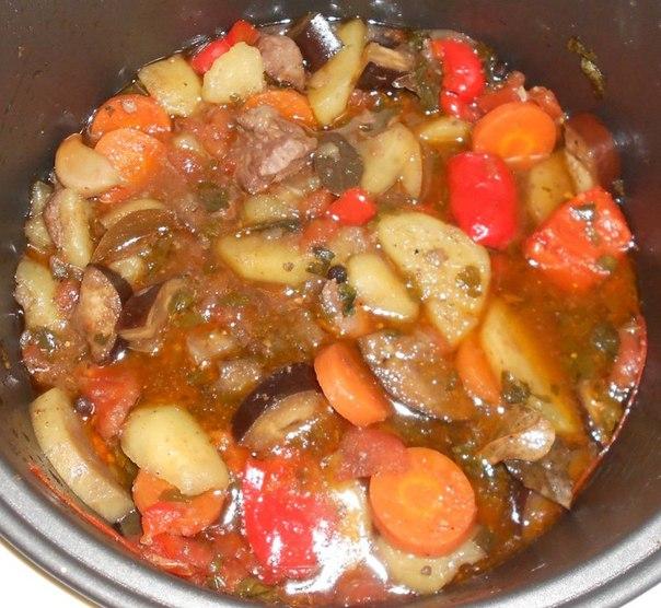 Мясо с овощами в мультиварке рецепт пошаговый 87