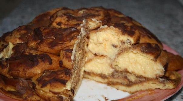 Торт из профитролей с заварным кремом