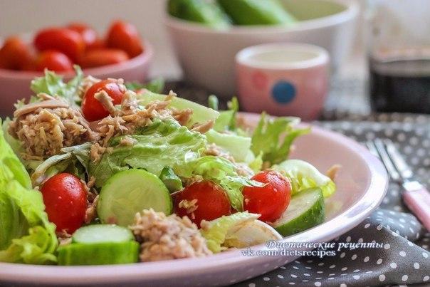 Вкусные диетические салаты на ужин
