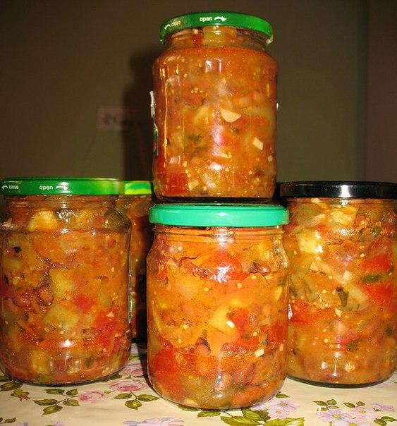 рецепты из салаты из капусты на зиму рецепты
