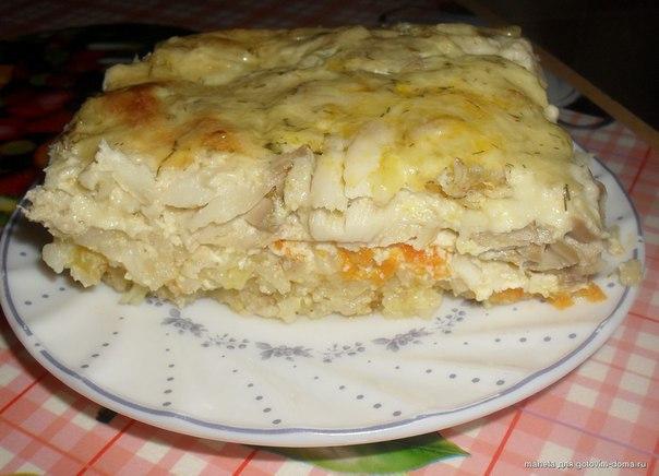 Рисовая запеканка с рыбой в духовке пошаговый рецепт с фото