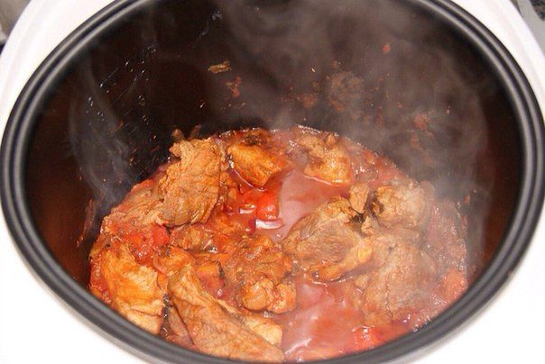 Тушеное мясо в мультиварке рецепт с фото