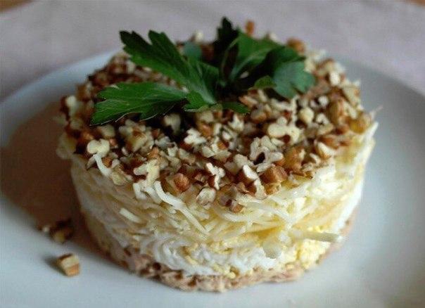 Салаты рецепты с орехами