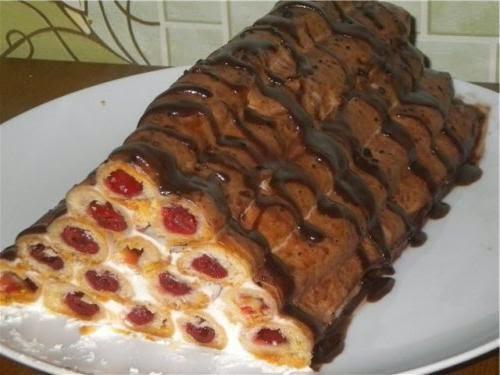 Рецепт поленница торт