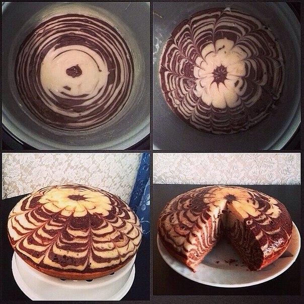 Торт зебра в мультиварке рецепт с фото