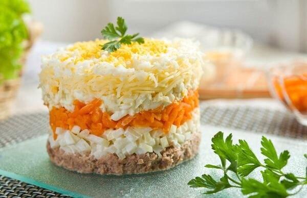 Салат мимоза какие ингредиенты