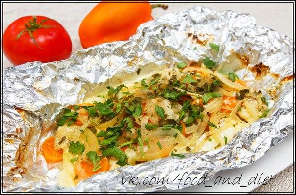 Курица в фольге в духовке рецепт пошагово с рисом 38