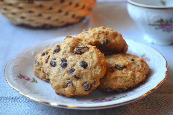 Творожное печенье с изюмом рецепт