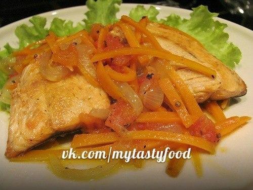 Горбуша на сковороде рецепт с морковью