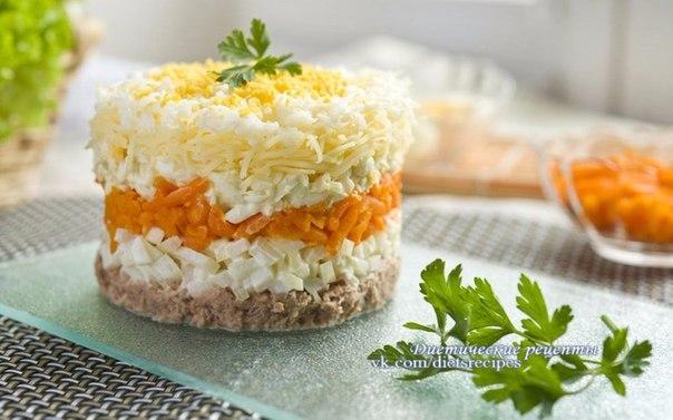 Салат мимоза с тунцом классический рецепт