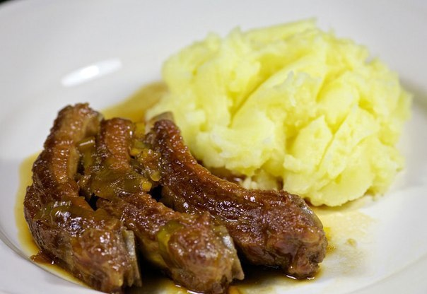 рецепт свиных ребрышек на сковороде с соевым соусом