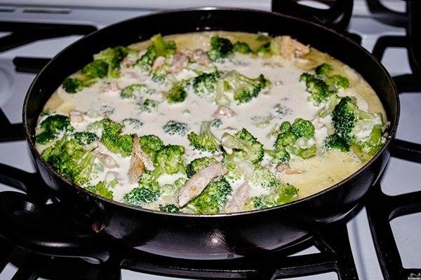 куриное филе с брокколи в духовке в сливочном соусе