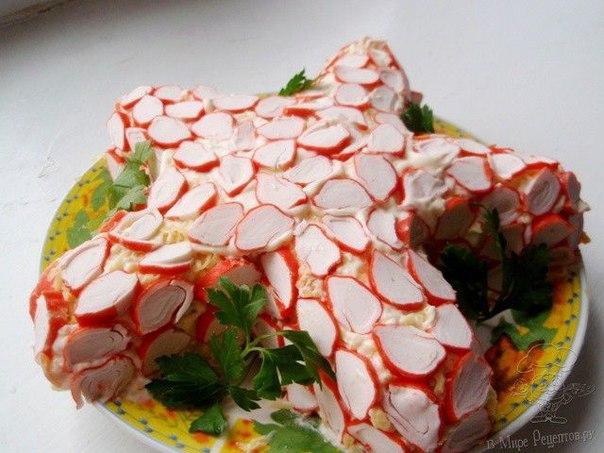 Салат крабовая звездой рецепт